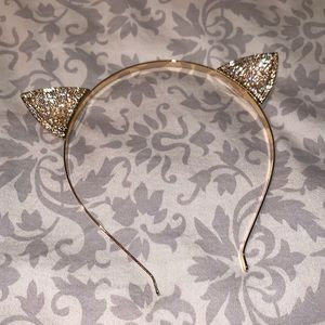 Kitty Cat Headband with Rhinestones